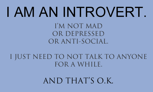 Image result for Images for I am an introvert