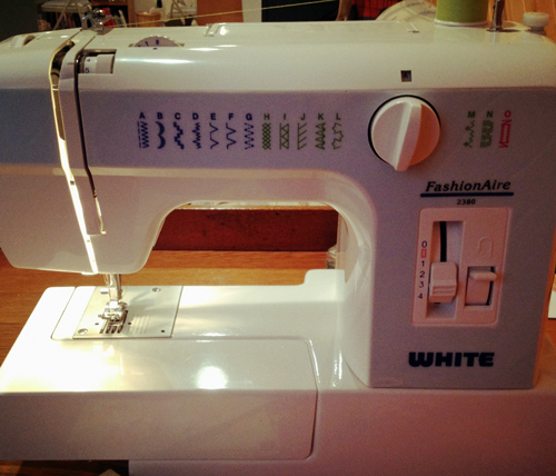 White-sewing-machine