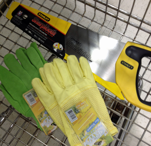 Saw-and-gloves