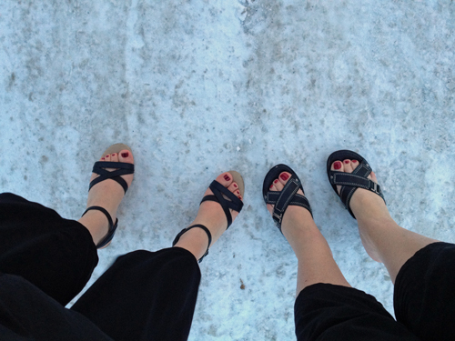 Feet-in-snow