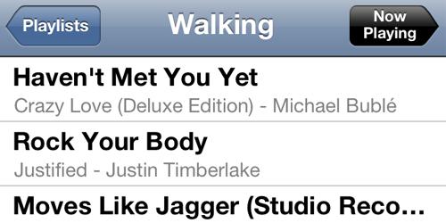 Walking-playlist