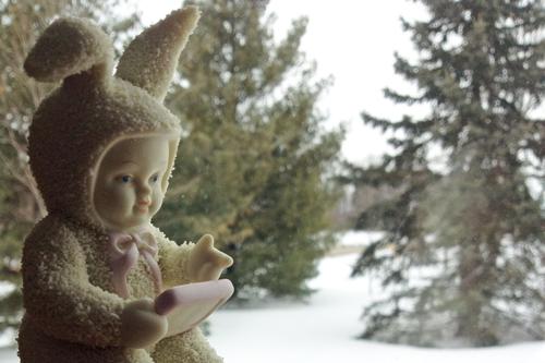 Bunnie-with-snow