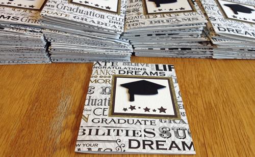 Grad-cards-pile