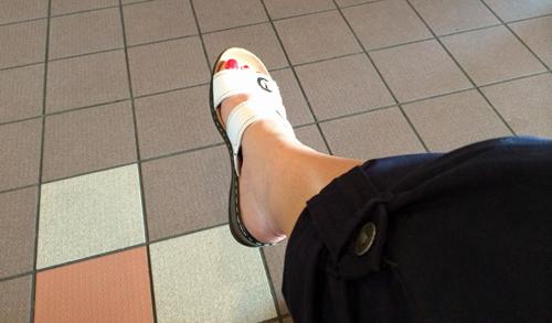 New-white-sandles