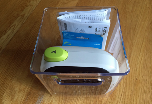 Label-maker-storage