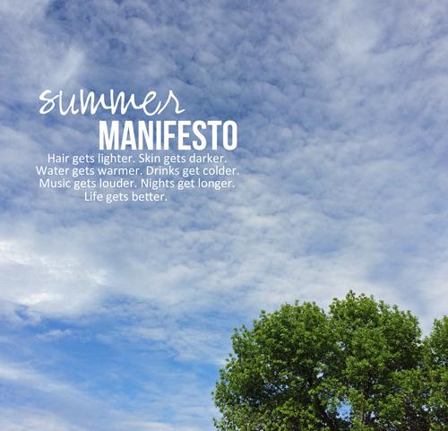 Summer-manifesto
