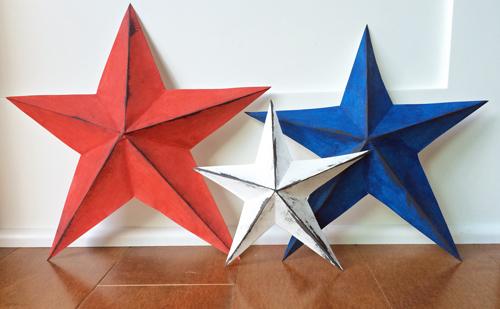 Paper-stars-standing